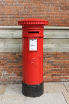Victorian Pillar Box outside the RSC, Stratford-upon-Avon. June 2013.