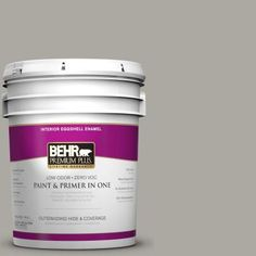 BEHR Premium Plus 5-gal. #N360-3 Still Gray Eggshell Enamel Interior Paint-240005 - The Home Depot