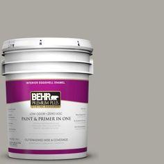 BEHR Premium Plus 5-gal. #N360-3 Still Gray Eggshell Enamel Interior Paint-240005 - The Home Depot