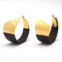 Gold Wrap Hoop Earrings by Sibilia, V Shop