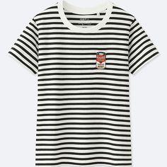 4368b2fa2fc9aa Pop art clothing  Andy Warhol striped t-shirt at Uniqlo