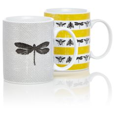 set of two bug mugs from george £4.00