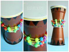 Sztuka Afryki - galeria pomysłów na prace plastyczne dla dzieci - Dzieciaki w domu Vbs Crafts, Diy Crafts For Kids, Projects For Kids, Arts And Crafts, Around The World Crafts For Kids, Africa Craft, Drum Lessons For Kids, African Art Projects, Harmony Day