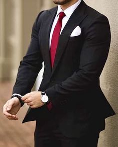 mens wedding suits design your own Mens Dress Outfits, Formal Men Outfit, Stylish Mens Outfits, Men Dress, Work Outfits, Men's Tuxedo Wedding, Wedding Men, Wedding Suits, Black Suit Wedding