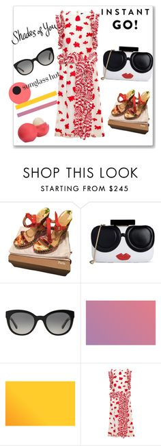 """Shades of You: Sunglass Hut Contest Entry"" by amanihanbali ❤ liked on Polyvore featuring Christian Louboutin, Alice + Olivia, Burberry, Simone Rocha, Eos and shadesofyou"