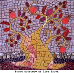Making Mosaics - Ideas to get you started on your mosaic tile projects. This is a lovely piece.