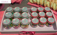 bomboniera I° compleanno_ vasetti di omogeneizzati riciclati