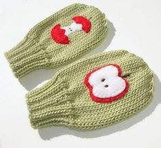 Cute felt applique to jazz up plain gloves.