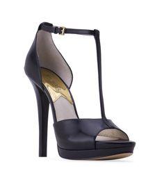6cc8b3e25617 Women s MICHAEL KORS MK Breanna T Strap Open Toe Sandal - Black - The  platform is