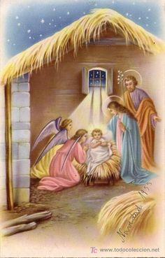 SAN JOSE VIRGEN MARIA Y NIÑO JESUS - PESEBRE (Postales - Religiosas y Recordatorios)