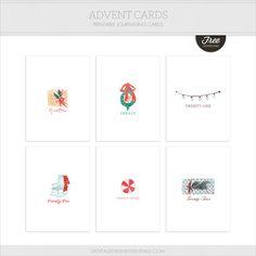 Quality DigiScrap Freebies: Advent Cards journal cards freebie from Digital Design Essentials