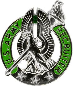 File:US Army Silver Recruiter Badge.png