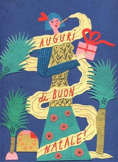 Christmas wishes - irene servillo illustration