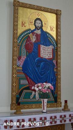 Icon of the Teacher (Pantocrator). Icon portfolio by Andre Prevost in Winnipeg Manitoba