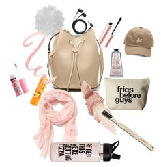 """BAG ESSETIALS"" by mylifeask on Polyvore featuring mode, Too Faced Cosmetics, Charlotte Russe, Maybelline, Dogeared, Sennheiser, Old Navy, ban.do et Nomess"