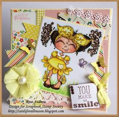 Spring Card -  DT Inspirational card   http://addicted-to-stamps.blogspot.com.au/2015/09/you-make-me-smile.html