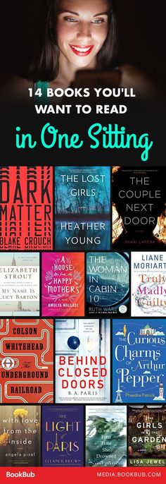 14 books you'll want to read in one sitting. Add these recommendations to your to-be-read pile! Added so many of these to my TBR after reading this! Books And Tea, I Love Books, Book Club Books, Good Books, Big Books, Teen Books, Books To Read In Your 20s, Love Reading, Reading Lists