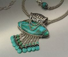 images of wire wrapped jewelry | Wire wrapped turquoise cab. | Jewelry