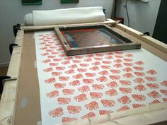 Moji Designs: Hand screen printing at Moji Designs Studio