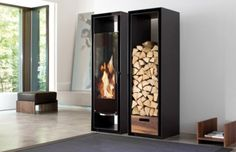 Fireplace With Wood Storage Decorative Fireplace Ideas Built In Cabinets Fireplace With Wood. Home Design Inspiration Simple Fireplace, Modern Fireplace, Fireplace Design, Decorative Fireplace, Fireplace Tiles, Contemporary Fireplaces, Ethanol Fireplace, Black Fireplace, Grand Designs