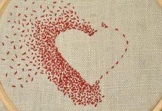 &Stitches: Single colour & negative space