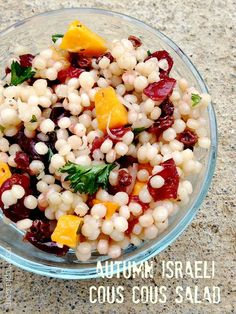 #MeatlessMonday Idea: Autumn Israeli Couscous Salad #vegan