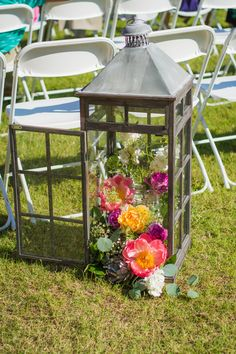 Lanterns and flowers