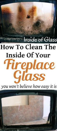 The Secret to Cleaning Your Fireplace Glass | DIY Home Sweet Home
