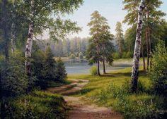 летний пейзаж, предпросмотр