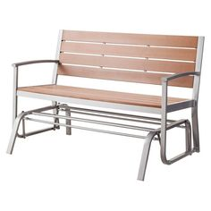 Bryant Faux Wood Patio Front Porch Glider - Threshold™ : Target