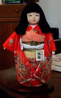 Bambola vintage Japanese Ichimatsu Doll Traditional Dress Glass Eyes   eBay