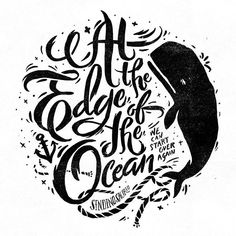 typography ocean quote whale design