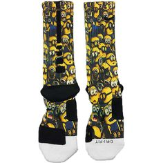 Minions Despicable Me Fast Shipping!! Nike Elite Socks Customized Minion on Etsy, $25.00