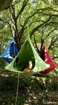 Hanging tents! Non-traditional camping!