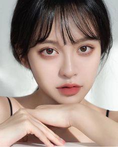 Ulzzang Hair, Ulzzang Makeup, Korean Makeup Look, Asian Makeup, Beauty Makeup, Hair Makeup, Hair Beauty, Aesthetic Hair, Tips Belleza