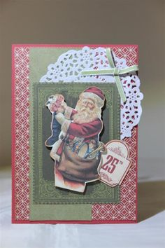 Kaisercraft 'Yuletide' Card 22 by Helen of Helen's Card Designs - Wendy Schultz ~ Christmas Cards & Tags.