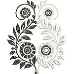 Black and White Florals machine embroidery designs