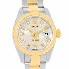 Women's Certified Pre-Owned Watches - Rolex Datejust automaticselfwind womens Watch 179163 Certified Preowned >>> You can get more details by clicking on the image.
