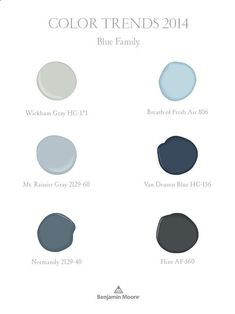 Benjamin Moore Color Trends 2014 - blue family