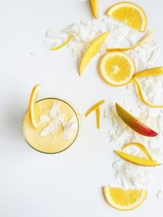 Coconut Orange Mango Smoothie | potluck at ohmyveggies.com
