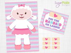 Doc McStuffins Pin the Bandaid on Lambie Doc by SugarPickleParty