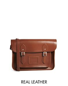 "Cambridge Satchel Company 13"" Leather Satchel in Tan"