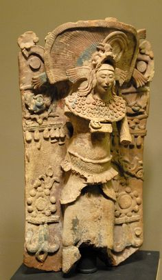 This very expressive sculpture of an ancient Maya man is in the collection of the Saint Louis Art Museum