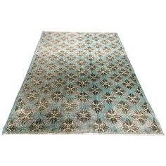 1940s Turkish Art Deco Rug - 5′3″ × 8′5″ (€1.430) ❤ liked on Polyvore featuring home, rugs, wool pile rug, wool area rugs, geometric area rugs, pile rug and geometric wool rug