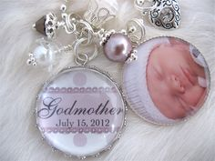 GODMOTHER GIFT Photo pendant keychain necklace personalized Bottle cap Jewelry Mother Grandma Nana, glass dome Wedding Shabby Chic. $29.50, via Etsy.