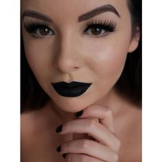 DARK LIPS ❤ liked on Polyvore featuring beauty products, makeup, lip makeup, lips, lime crime makeup, lime crime and lime crime cosmetics