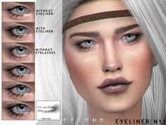 Female Found in TSR Category 'Sims 4 Female Eyeliner' Eyeliner, Eyeshadow, Gucci Top, Sims 4 Cc Makeup, Sims 4 Cc Skin, Nails For Kids, Sims Resource, The Sims4, Toddler Hair