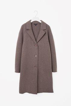 COS image 4 of Raw-cut wool coat in Light Brown