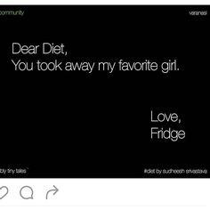 I miss my fridge too