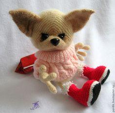 """Купить Мастер-класс """"Лисонька Лизонька"""" (описание вязания) - оранжевый, игрушка, игрушки, вязаная игрушка"""